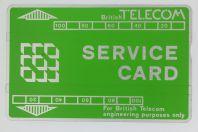 Télécarte de service Landis & Gyr Service Card 101A BTS003 Royaume-Uni