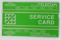 Télécarte de service Landis & Gyr Service Card 152K BTS004 Royaume-Uni
