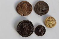 Anciens moulages 5 monnaies antiques