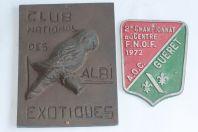 Anciennes plaques Club Ornithologique Oiseaux Albi exotiques
