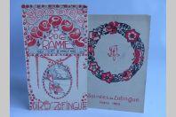 Programmes Soirées Société étudiants Zofingue 1916 Suisse