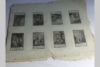 Anciennes gravures allemandes Scènes bibliques XVIIIe siècle religion