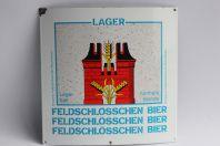 Plaque émaillée Bière Lager Feldschlösschen Bier