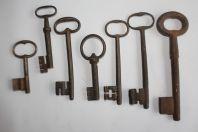 Anciennes clefs fer forgé