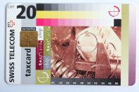 Télécarte à puce Test card 20 CHF Swiss Telecom Suisse 1995