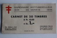 Carnet timbres Suisse antituberculeux 1935