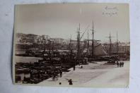 Ancienne photographie Marseille Port et Genève Lac Léman Bateaux