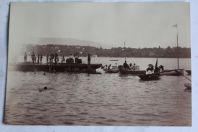 Ancienne photographie Bateaux Forces motrices du Rhône Genève Suisse