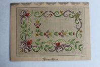 Carton tapisserie de Berlin Heinrich Kuehn XIXe siècle
