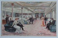 Carte postale ancienne Cie Gle Transatlantique La Lorraine Salon