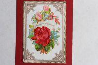 Chromo gaufré fleurs XIXe siècle Allemagne