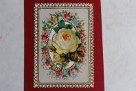 Chromo gaufré fleurs XIXe siècle