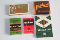 Anciennes boites Cigares Picaduros Brazza Niñas Señoritas Voltigeurs