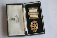 Médaille décoration argent Franc- maçonnique