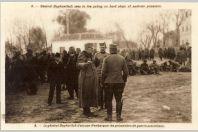 CPA Militaria Peintre armée Serbe Valitch Lj. Général Goykovitch embarquer prisonniers autrichiens Guerre 1914-18