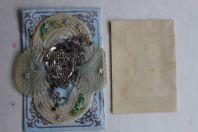Lettre de baptême gaufrée XIXe siècle