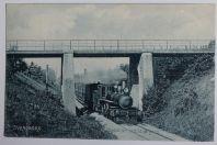 CPA Danemark Svendborg Viadukten ved St. Jørgens Train