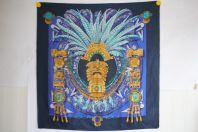 HERMES Foulard soie à motifs Incas Cathy Latham