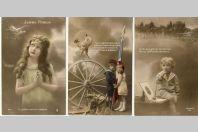 3 CPA militaria Patriotique Absence Soldat Pensée Enfant Paix