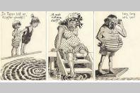 3 CPA illustrée Humour anglais allemand