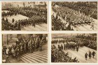 12 Cartes postales militaires Cortège Historique Rentrée triomphale roi Albert à Bruxelles 1918