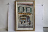 Aquarelle originale Pâtisserie-Confiserie Guillermin Ch. Tocchio 1981
