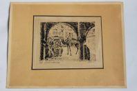 Gravure orientaliste Nefta Tunisie G. Wyatt 1932