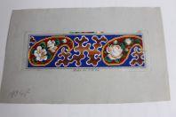 Carton tapisserie de Berlin F. W. Neie XIXe siècle