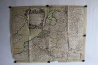 Carte géographique Dix-sept Provinces des Pays-Bas Cordier 1675