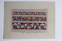 Carton tapisserie de Berlin Hertz & Wegener XIXe siècle