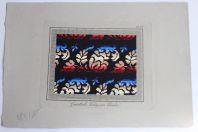 Carton tapisserie de Berlin Grünthals Verlag XIXe siècle