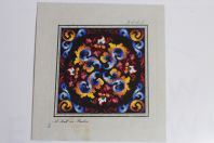 Carton tapisserie de Berlin A. Todt XIXe siècle