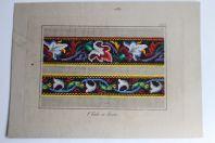 Carton tapisserie de Berlin P. Trübe XIXe siècle