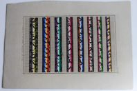 Carton tapisserie de Berlin L. W. Wittich XIXe siècle