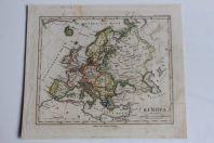 Carte géographique Europa Stieler's Schul Atlas