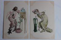 Cartes postales illustrées Femme Art nouveau