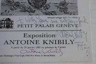 Catalogue exposition dédicacé Antoine KNIBILY 1983 Genève