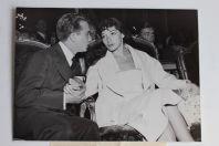 Photo chanteuse Juliette GRECO et comédien Philippe LEMAIRE Mariage 1953