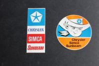 Autocollants automobiles Chrysler Simca Sunbeam