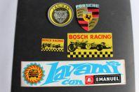 Autocollants automobiles Porsche Jaguar Bosch racing