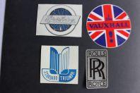 Autocollants automobiles Rolls Royce Triumph StudeBaker Vauxhall