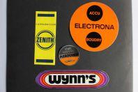 Autocollants accessoires automobiles Wynn's Zenith Aerochem Electrona