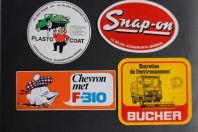 Autocollants accessoires automobiles Bucher Snap-on Plasto-coat