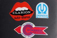 Autocollants accessoires automobiles Clarion Pionner car stereo