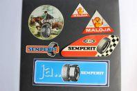 Autocollants accessoires pneu automobiles Semperit Maloja Continental
