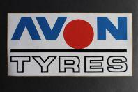 Autocollant accessoires automobile Avon Tyres