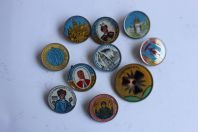Badges Russes Chernobyl - Cathédrales - Personnages (x10)