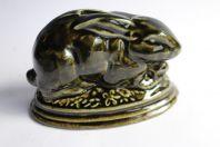 Ancienne tirelire porcelaine lapin