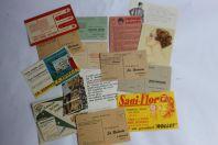 Lot 14 anciennes cartes publicitaires