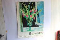 Bardone affiche lithographiée Galerie des chaudronniers Genève 1985